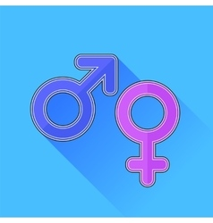 Male Female Icons vector image