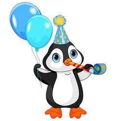 Penguin Birthday vector image vector image