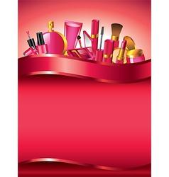 cosmetics vertical background vector image vector image