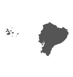 Ecuador map black icon on white background vector