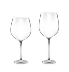 empty wine glasses vector image