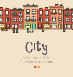 flat design modern urban landscape and city vector image vector image