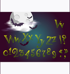 halloween letters in cartoon movie style funny vector image vector image