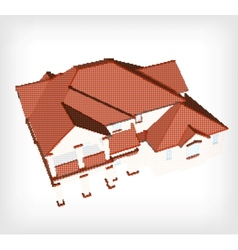 House made from dots vector image