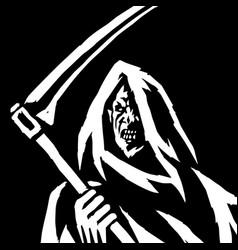 phantom reaper head in the hood isolated flat vector image vector image