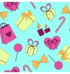 Seamless Happy birthday elements colorful pattern vector image vector image