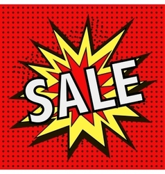 The icon with the word SALE vector image