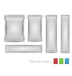 3d white glossy foil packaging for branding vector image