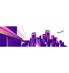 abstract buildings banner vector image