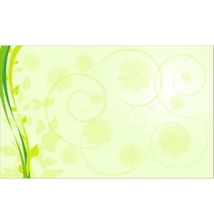 Abstract ecological border with plants vector