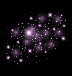 Abstract galaxy purple color vector