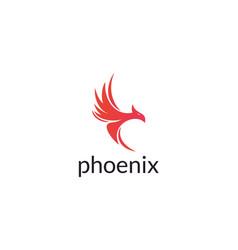 abstract luxury phoenix logo design vector image