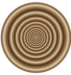Abstract metallic spiral vector