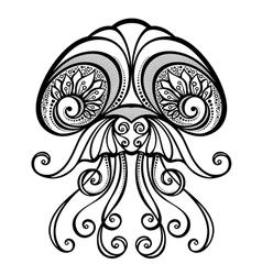 Abstract Sea Jellyfish vector image
