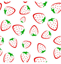abstract strawberry seamless pattern vector image