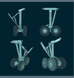 airplane landing gear vector image