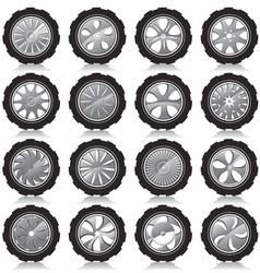 alloy wheel black vector image