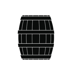 Barrel with honey black simple icon vector image