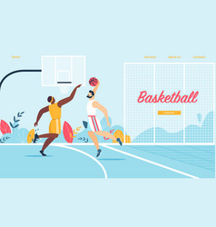 basketball players in action tournament game vector image