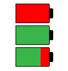 battery condition charge simple style vector image
