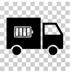 battery delivery truck icon vector image