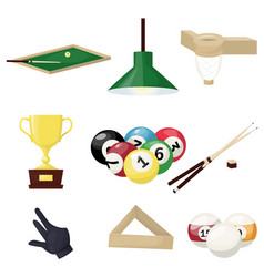 billiards equipment hobby sport entertainment vector image