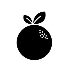 Black contour delicious orange fruit icon vector