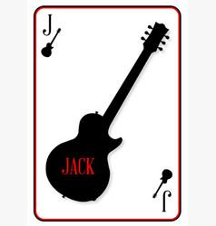 Black solid guitar jack vector