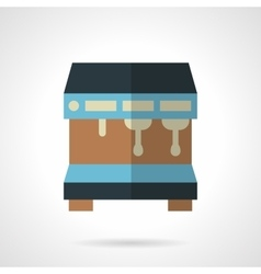 Blue coffee machine flat color design icon vector image