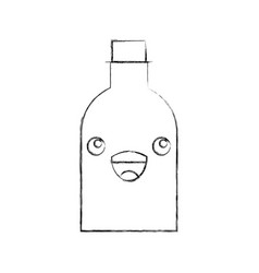 Bottle glass kawaii character vector
