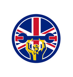 british mechanic union jack flag icon vector image