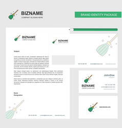 broom business letterhead envelope and visiting vector image