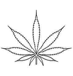 Cannabis marijuana leaf black color path icon vector