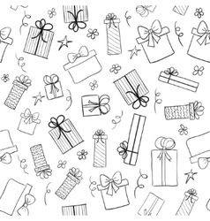 Christmas gift boxes Seamless pattern vector