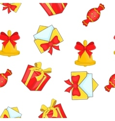 Christmas presents pattern cartoon style vector