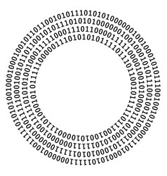 circle shape of zero one vector image