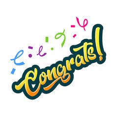 Congratulations greeting card vector