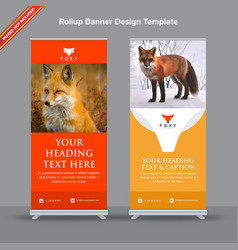Creative rollup banner with rusty orange look vector