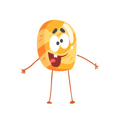 cute pancake character cartoon funny dessert vector image