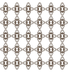 Dark brown hop flowers digital seamless pattern vector