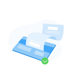 Discount card with check vector