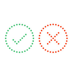 dots check mark icons vector image
