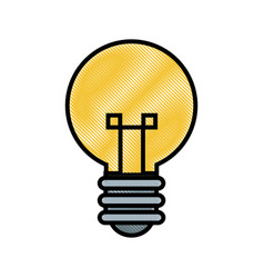 drawing bulb creative idea innovation icon vector image vector image