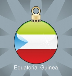 equatorial guinea flag on bulb vector image