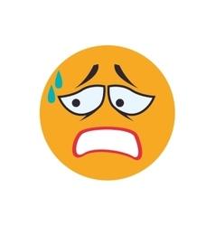 Face sad sphere expression cartoon icon vector