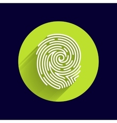 Fingerprint icon finger print id theft vector image