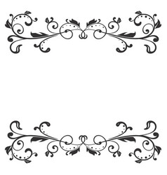 Floral decoration black ornamental divider vector