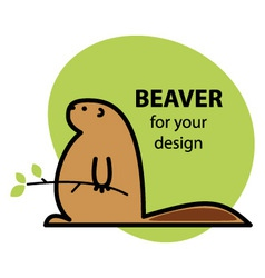 Funny beaver vector