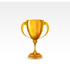 golden award trophy isolated on white background vector image