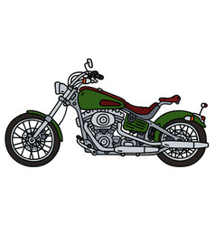 Green heavy chopper vector